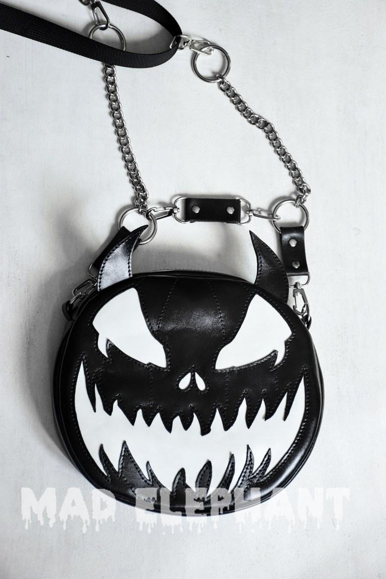leather pumpkin purse