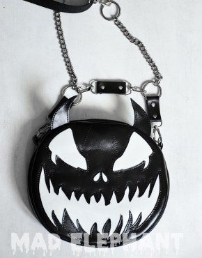 leather pumpkin purse