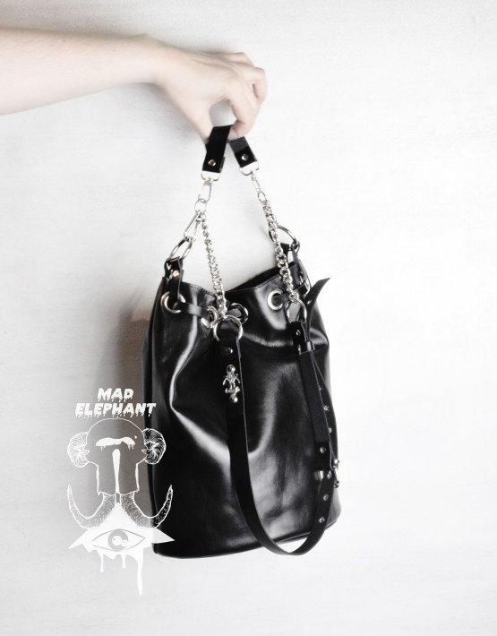 bucket bag with tassel
