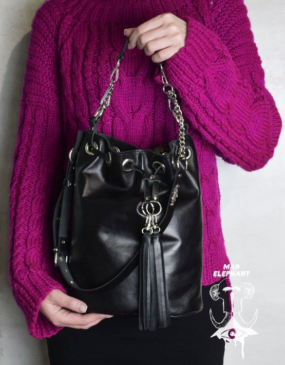 bucket bag tassel