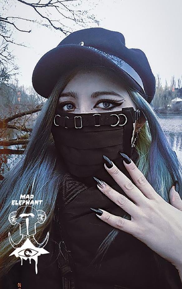 black face mask techwear