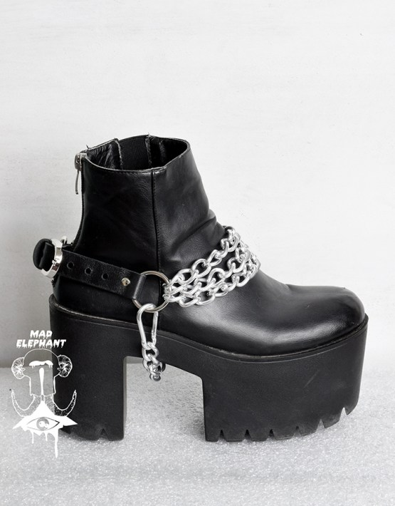 leather boot chains