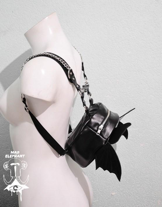 bat backpack leather