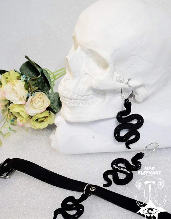 snake dangle earrings
