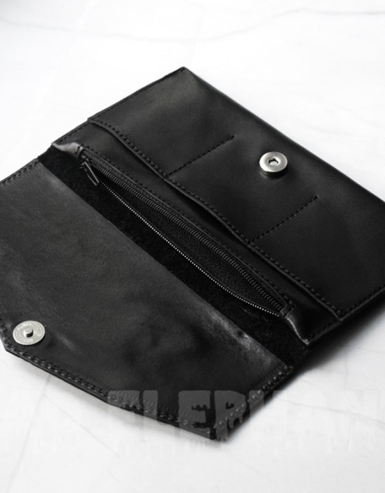 madelephant gothic wallet with moth detail