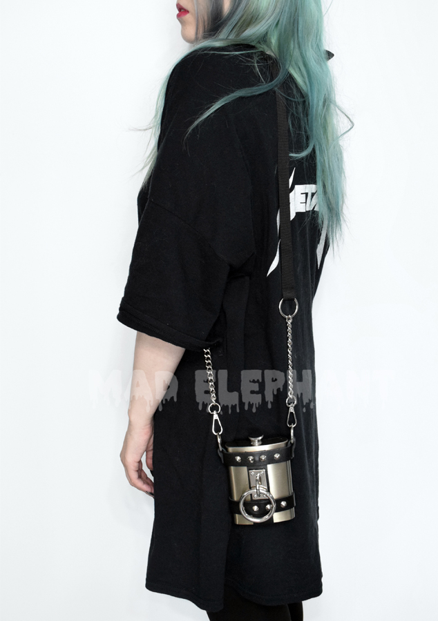 women with colored hair with harness purse