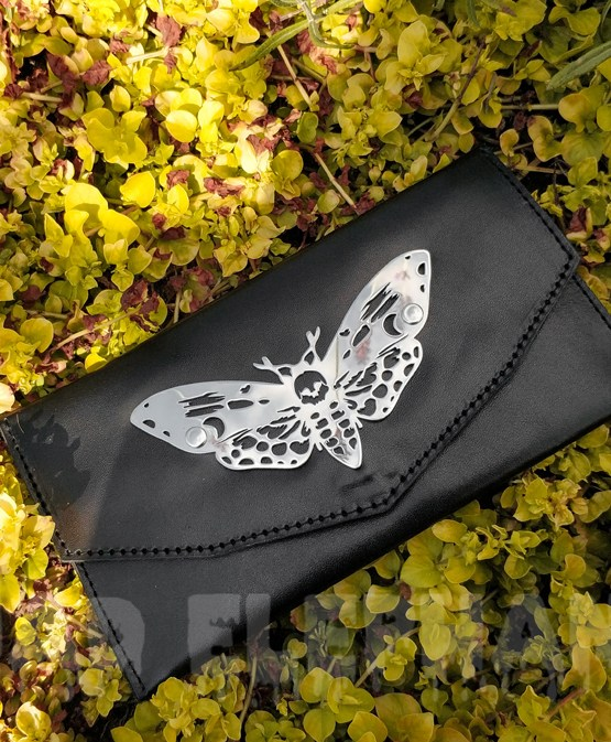 leather wallet in yellow flowers