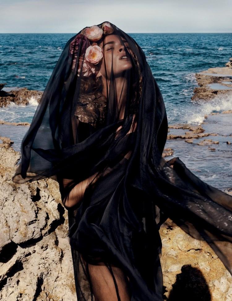 black sheer dress vogue netherlands