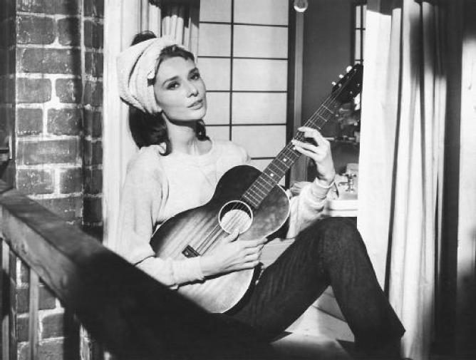 blues reds Audrey hepburn moon river