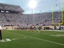 Dance team performs at Spartan Stadium