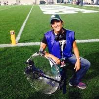Parab mic operator at Spartan Stadium