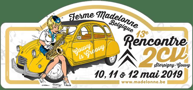 Plaque Rallye des 13e Rencontre 2CV 2019
