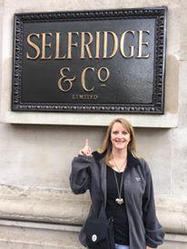 Mom outside of Selfridge's