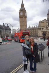 Mom and Mad outside Big Ben