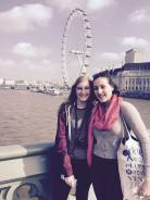 Mady and Inès in front of the eye