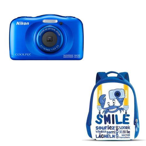 Compact-Nikon-Coolpix-W100-Bleu-Sac