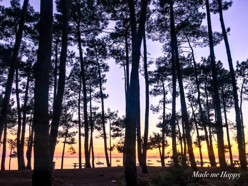 Coucher de soleil Arès Cap Ferret - Blog lifestyle