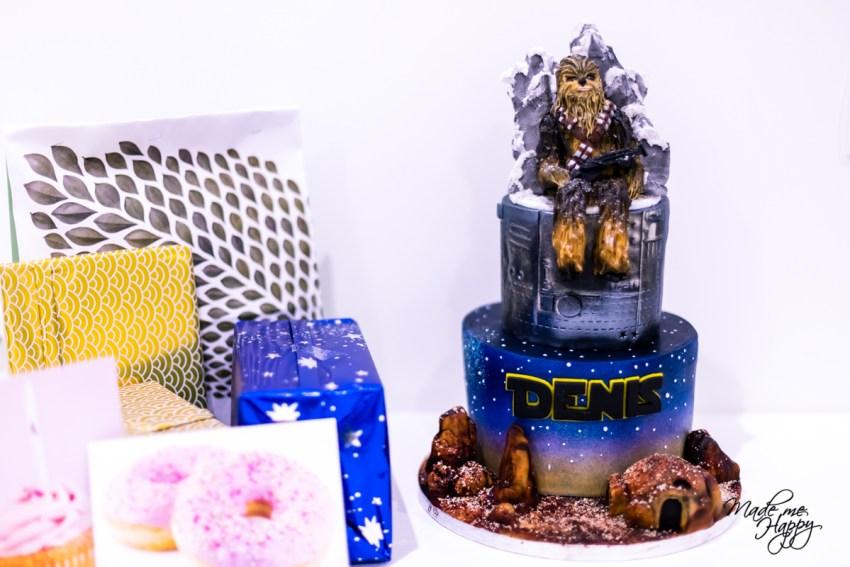 Gâteau anniversaire Chewbacca - Cake Design Bordeaux - Blog fam