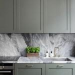 Minimal Kitchen In Sage Green And Marble Mademoiselle A Minimalist Fashion Blog
