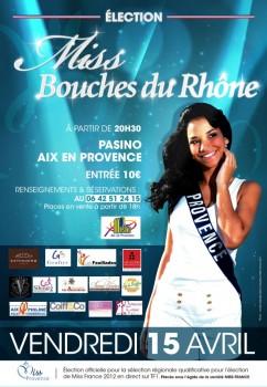 Affiche Miss Bouches du Rhône 2011