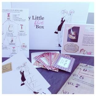 Photo des goodies de la My Little Flirt Box