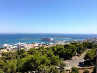 Vue sur le port de Palma