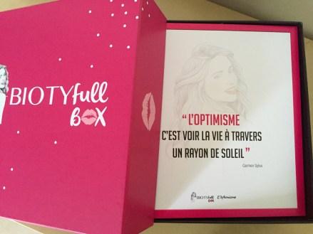 Biotyfull box septembre 2015 - 2