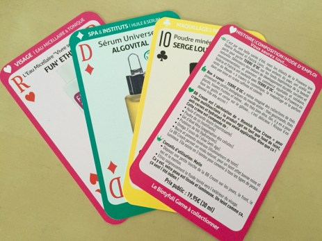 Jeu de cartes explicatives
