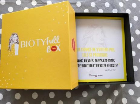 Biotyfull Box Janvier 2016 - 2