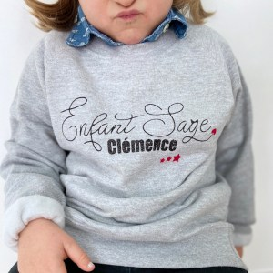 Sweat-shirt enfant personnalisable