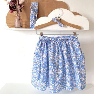 jupe fille besty bleu et rose