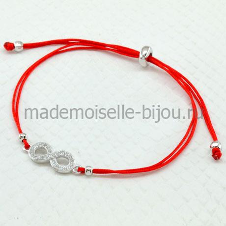 Браслет красная нить бесконечность в стиле Tiffany Infinity Silver 925