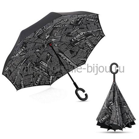 Зонтик наоборот антизонт Up Brella Black Paper