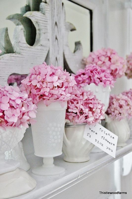 hortensien tischdeko hochzeit rosa mademoiselle no more. Black Bedroom Furniture Sets. Home Design Ideas