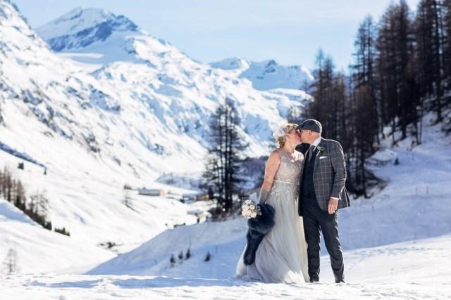 Hochzeit von Fiona und Gregor in Sils-Maria vom 06. Januar 2015.