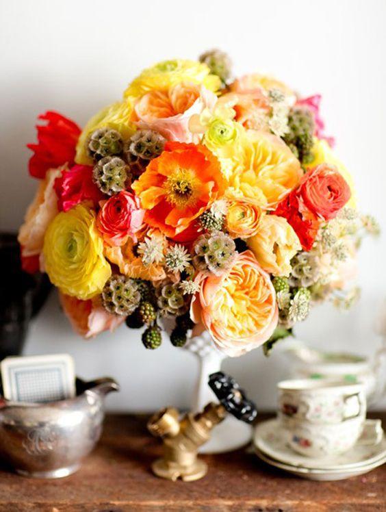 Englische Rosen Tischdeko Hochzeit Herbst