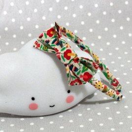 serre-tête petit nœud/accessoire enfant liberty fleur- Flower liberty kid's headband