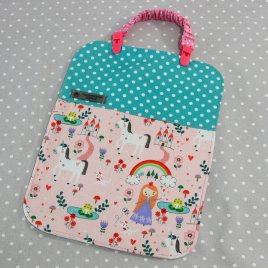 Bavoir bébé / Serviette de table pour enfant + clip attache doudou/ bavoir thème princesse