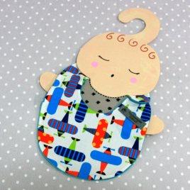 Bavoir bébé 0/8 mois thème avion