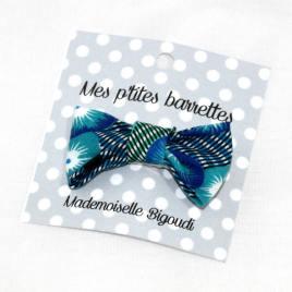 Mes petites barrettes de Mademoiselle Bigoudi/ pince crocodile Petit Pan bleu