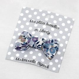 Mes petites barrettes de Mademoiselle Bigoudi/ pince crocodile Liberty Wiltshire lilas