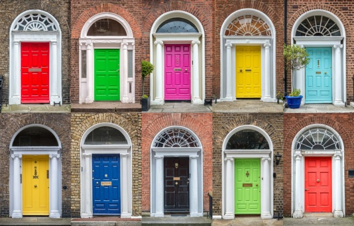 Le famose porte colorate di Dublino