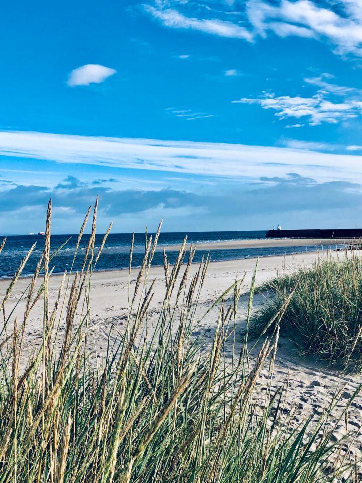 Nairn, Scozia: West Beach di prima mattina