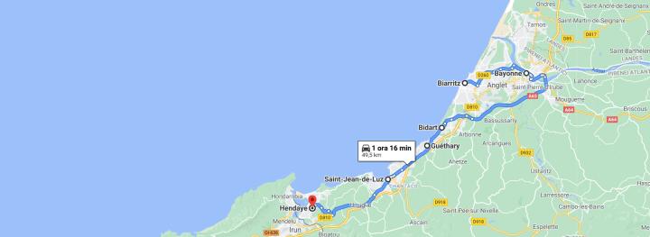 Itinerario Paesi Baschi francesi