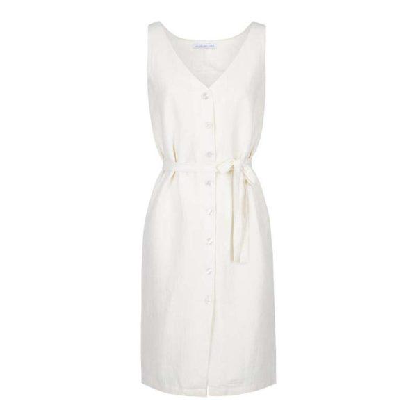 Robe blanche réversible made in France. Les Sublimes, marque éco responsable. Mademoiselle Coccinelle, blog mode éthique
