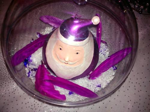 Une sweet table en violet et argent pour Noël