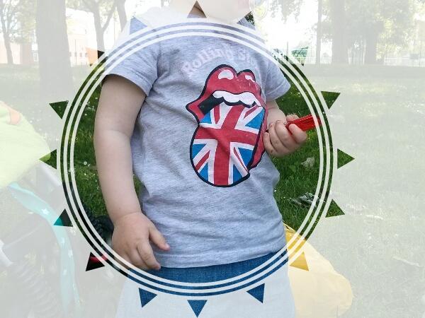 T-shirt Rolling Stones bébé
