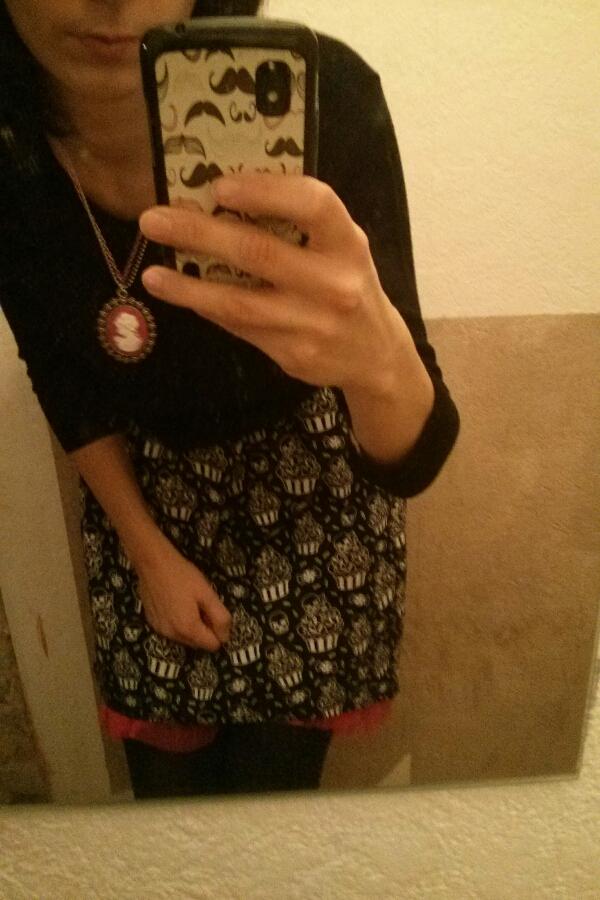 robe cupcakes tête de mort