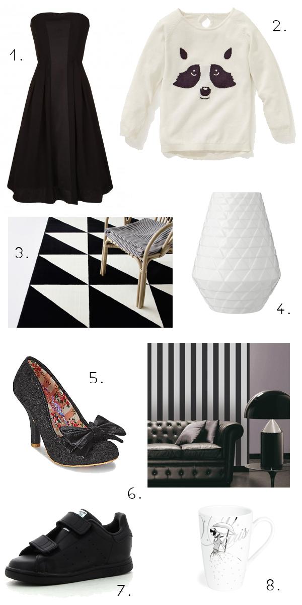shopping noir et blanc