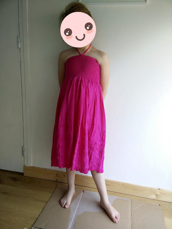 robe rose fille